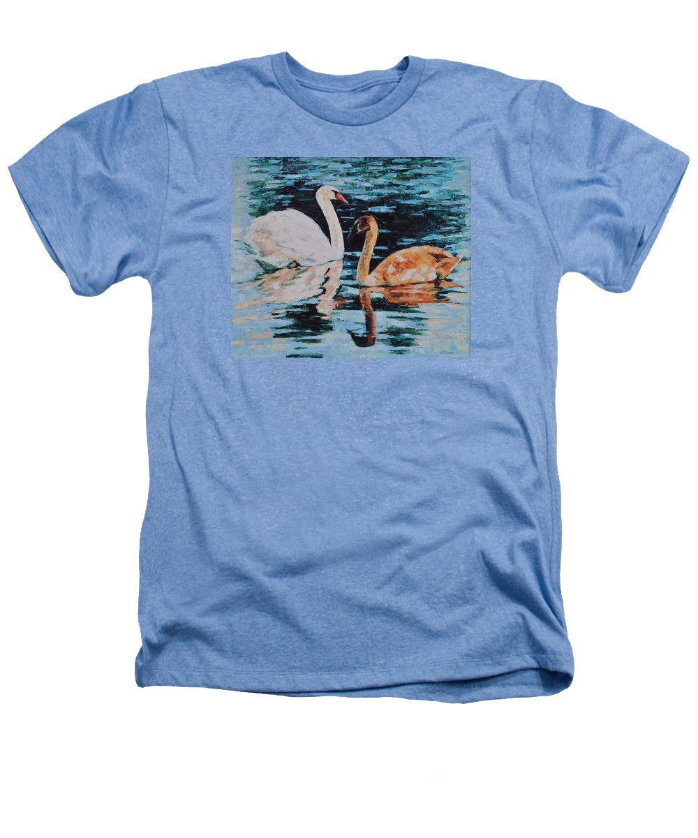 Blue Heathers T-Shirt featuring the painting Reflections by Iliyan Bozhanov