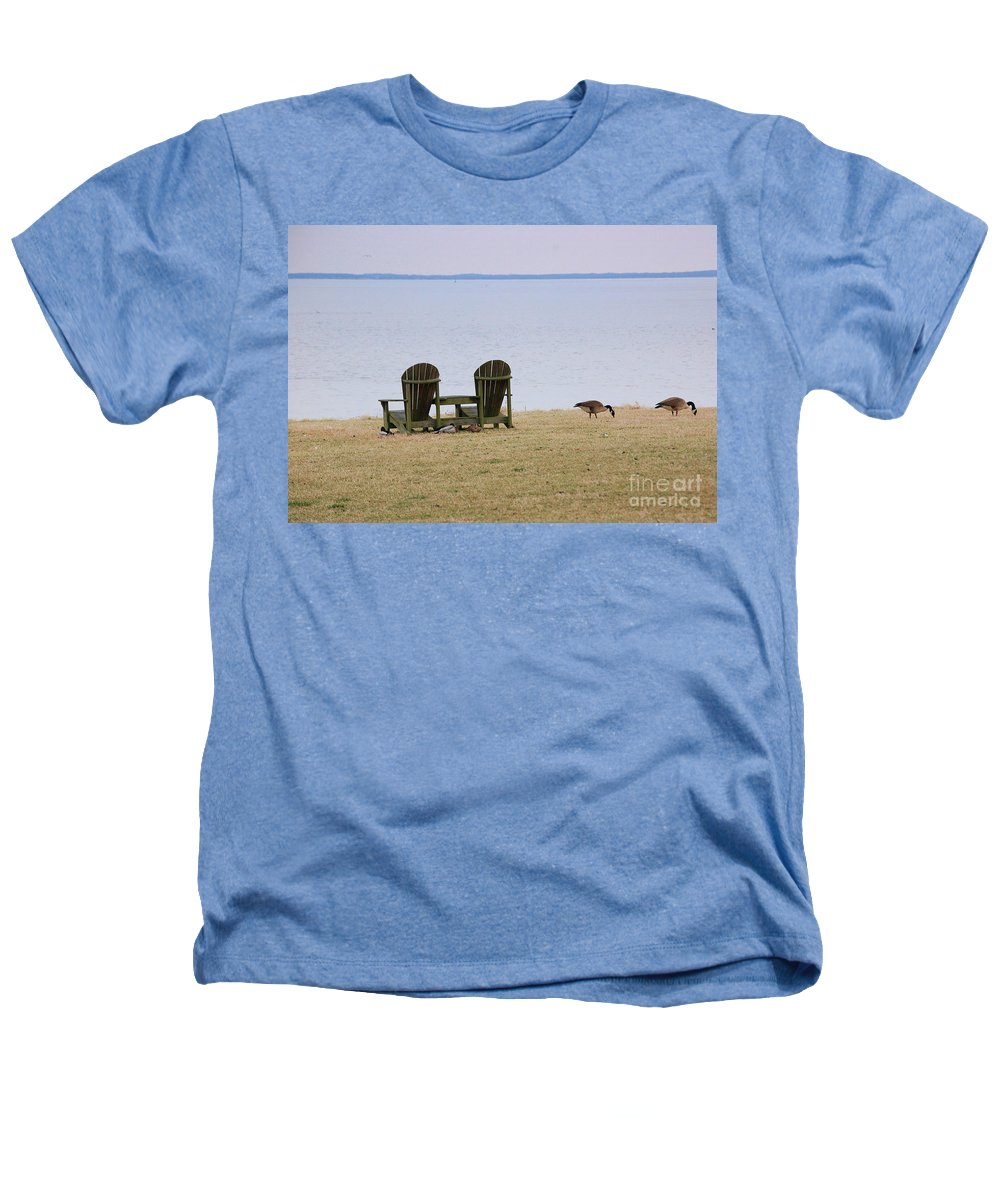 Chairs Heathers T-Shirt featuring the photograph Relax by Debbi Granruth