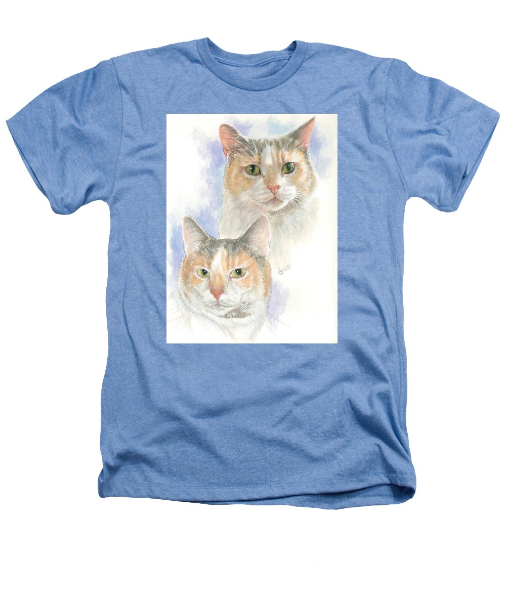 Domestic Cat Heathers T-Shirt featuring the mixed media Reno by Barbara Keith