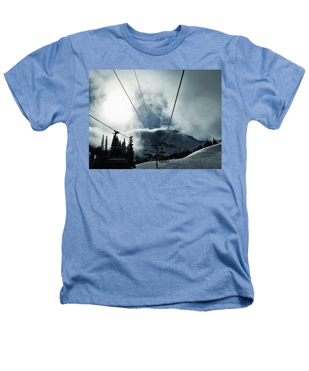 Landscape Heathers T-Shirt featuring the photograph Rise To The Sun by Michael Cuozzo