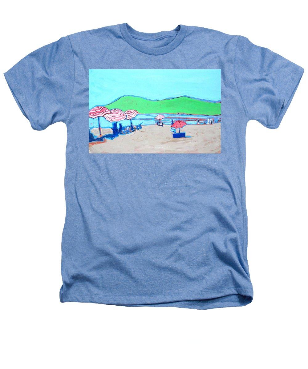 Seashore Heathers T-Shirt featuring the painting Riviera by Kurt Hausmann