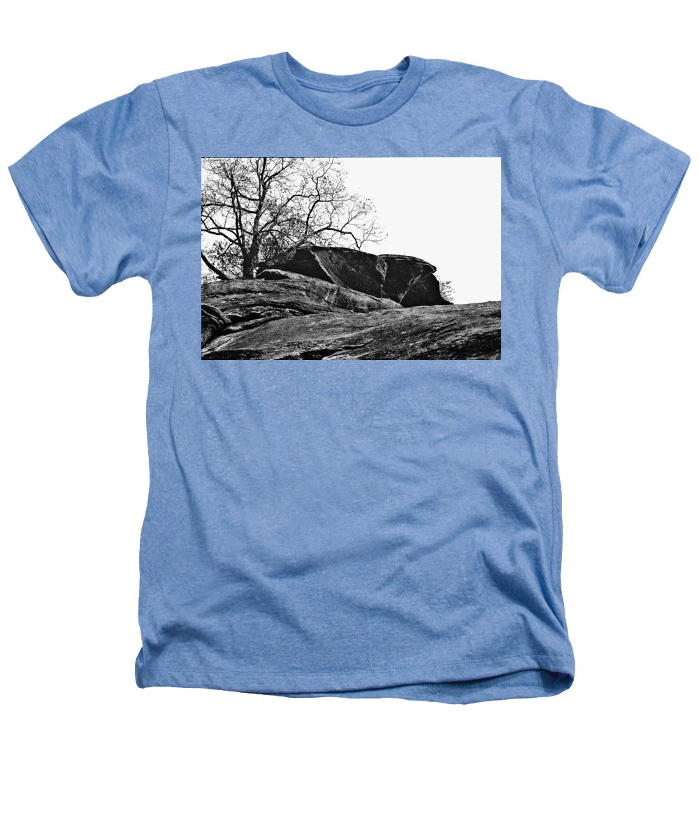 Landscape Heathers T-Shirt featuring the photograph Rock Wave by Steve Karol