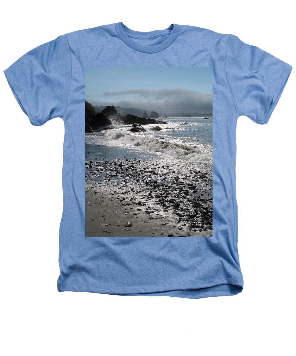 Ocean Heathers T-Shirt featuring the photograph Rocky Shores by Gale Cochran-Smith