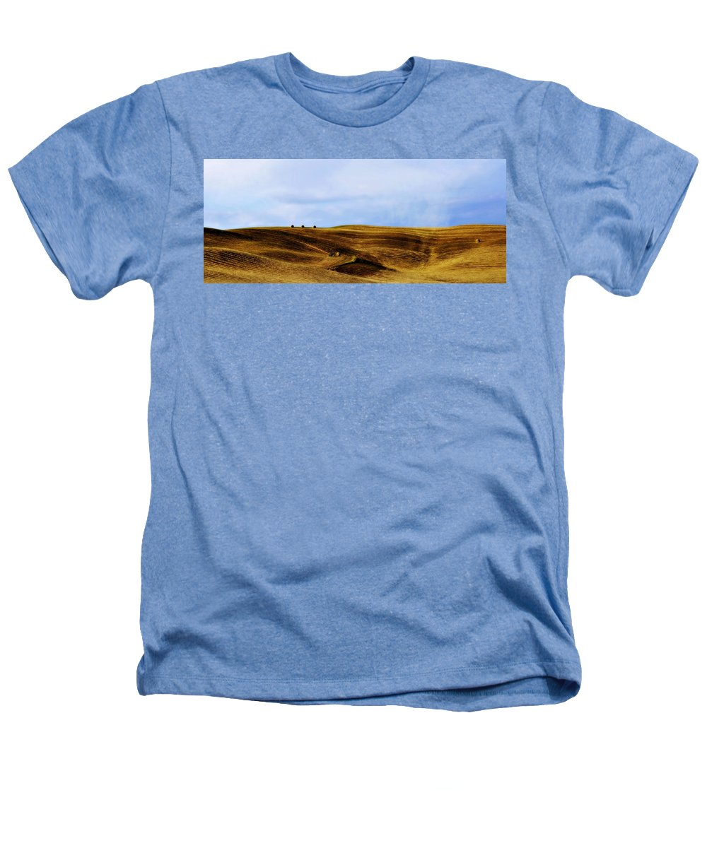 Italy Heathers T-Shirt featuring the photograph Rolling Hills Of Hay by Marilyn Hunt