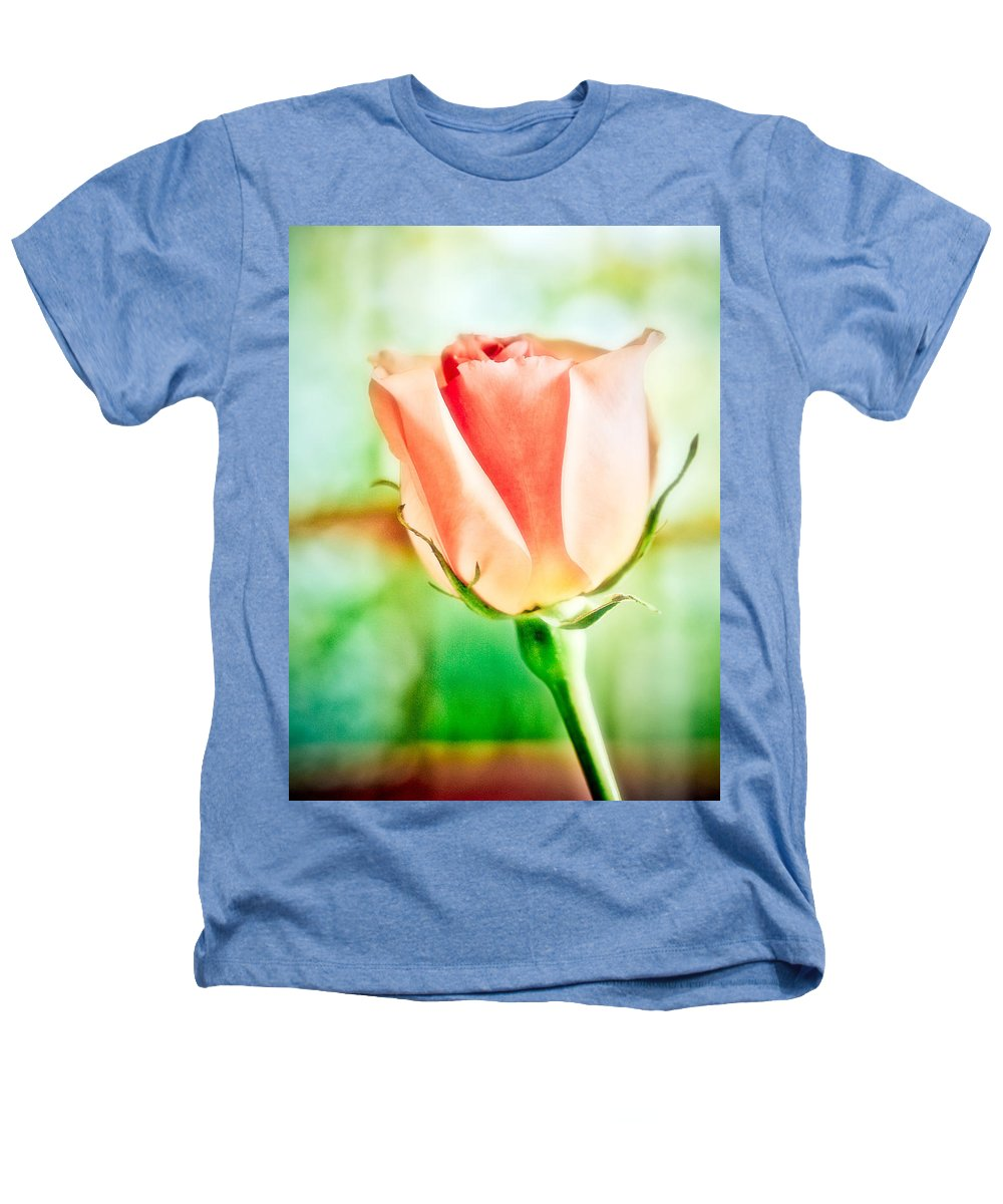Rose Heathers T-Shirt featuring the photograph Rose In Window by Marilyn Hunt