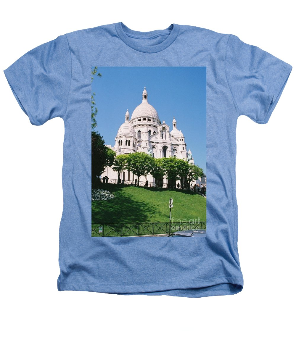 Church Heathers T-Shirt featuring the photograph Sacre Coeur by Nadine Rippelmeyer