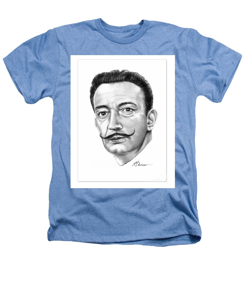 Drawing Heathers T-Shirt featuring the drawing Salvador Dali by Murphy Elliott