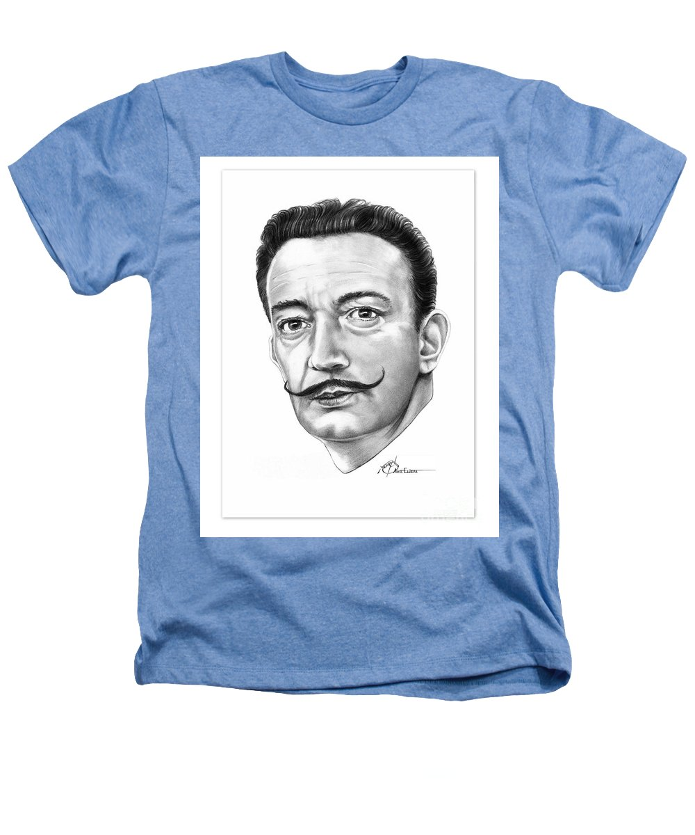 Salvador Dali Heathers T-Shirt featuring the drawing Salvador Dali by Murphy Elliott