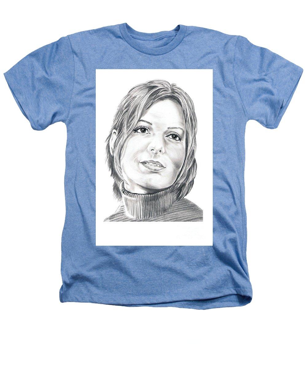Drawing Heathers T-Shirt featuring the drawing Sandra Bullock by Murphy Elliott