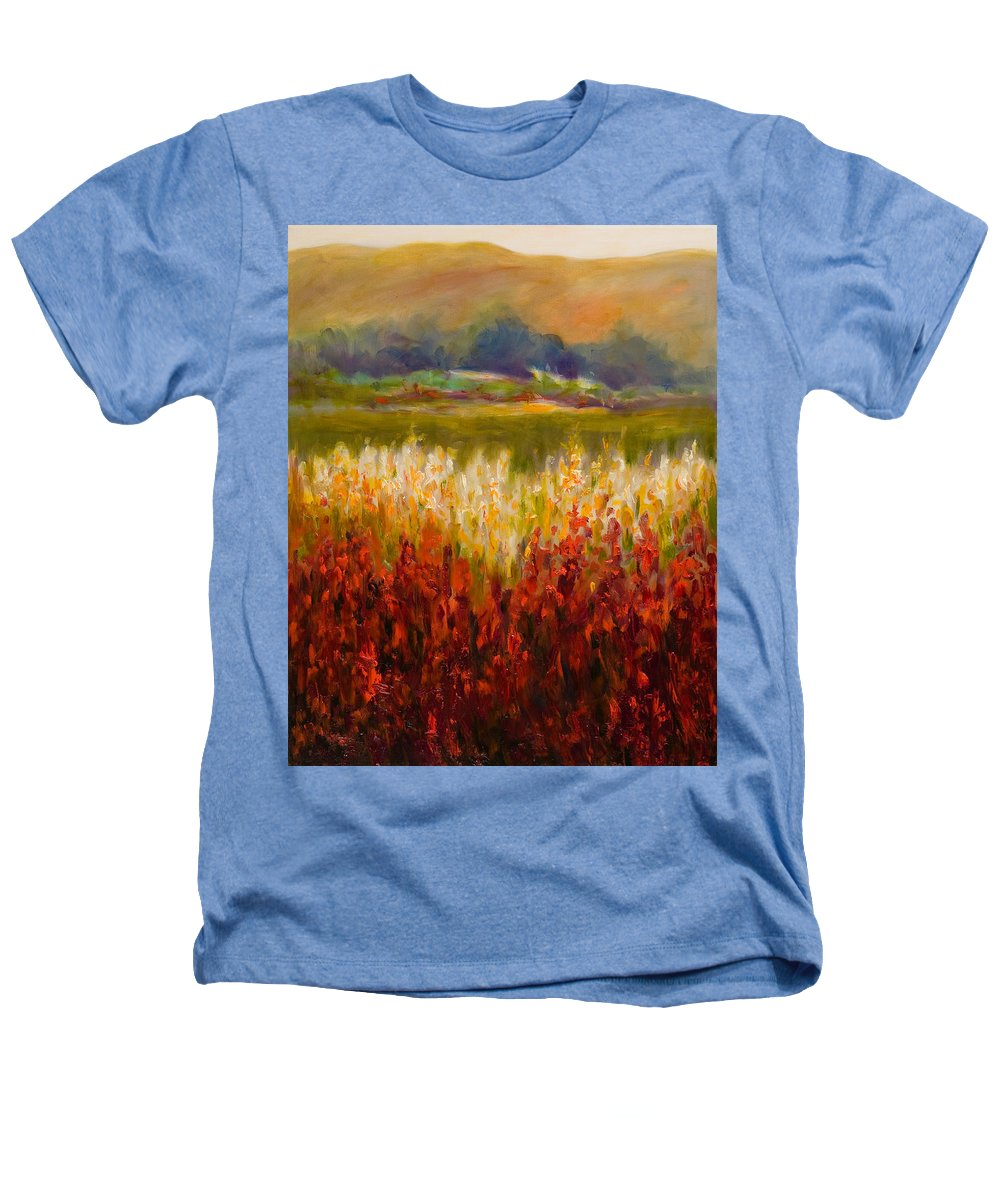 Landscape Heathers T-Shirt featuring the painting Santa Rosa Valley by Shannon Grissom