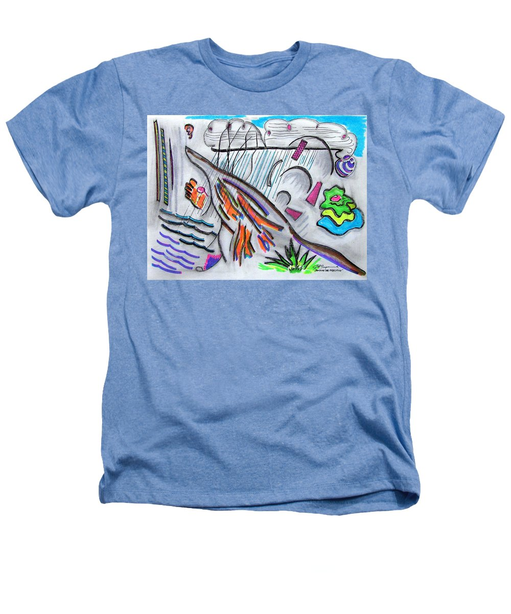 Abstract Drawing Heathers T-Shirt featuring the drawing Sensing The Precipice by J R Seymour