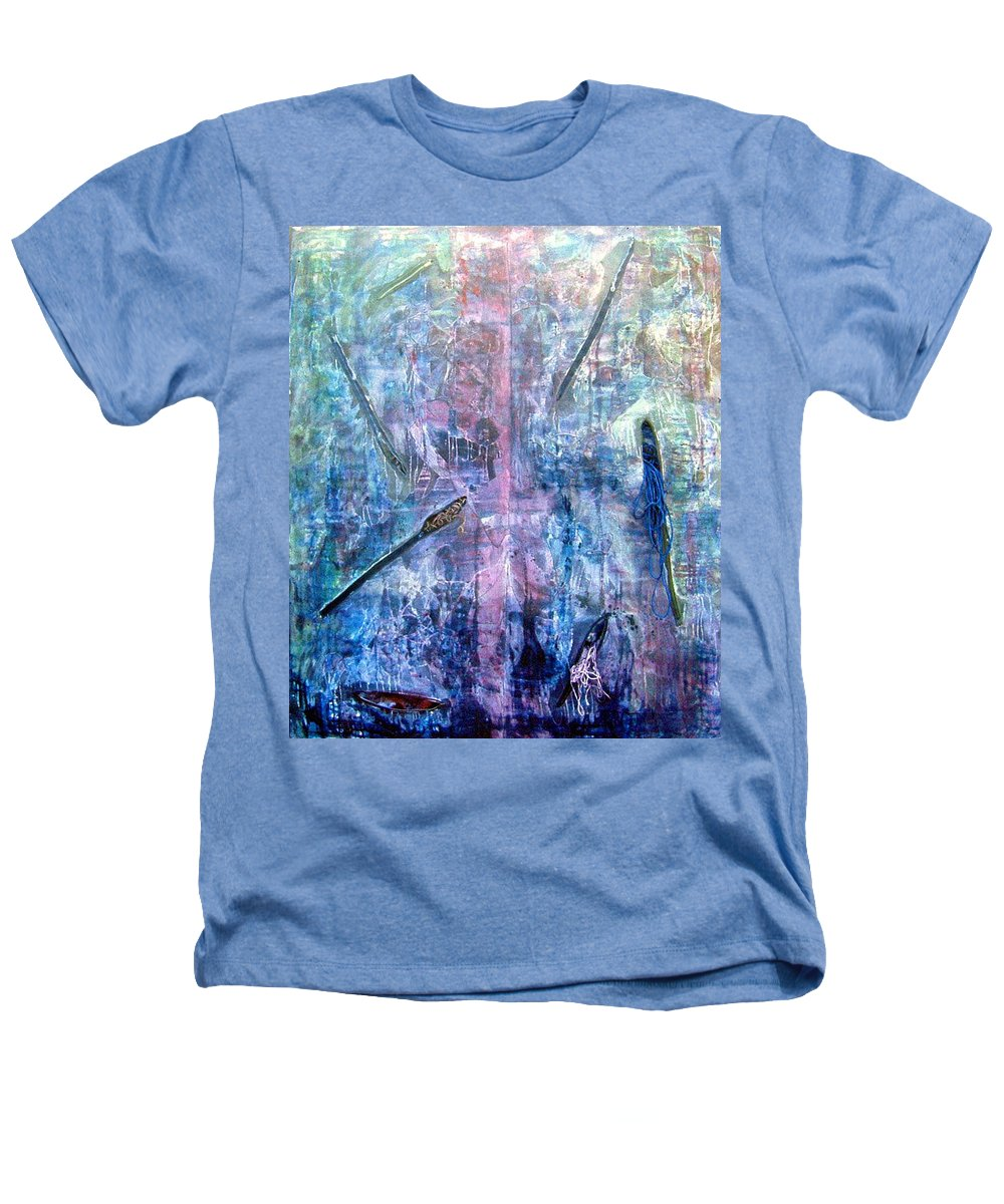 Abstract Heathers T-Shirt featuring the painting Seven Zippers by Nancy Mueller