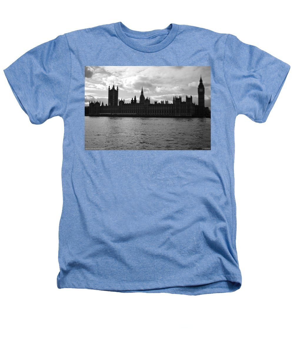 London Heathers T-Shirt featuring the photograph Shadows Of Parliament by J Todd