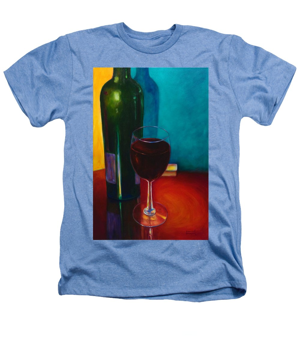 Wine Bottle Heathers T-Shirt featuring the painting Shannon's Red by Shannon Grissom