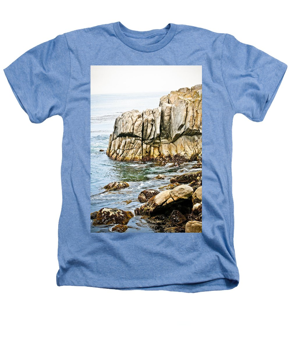 Pebble Beach Heathers T-Shirt featuring the photograph Shores Of Pebble Beach by Marilyn Hunt