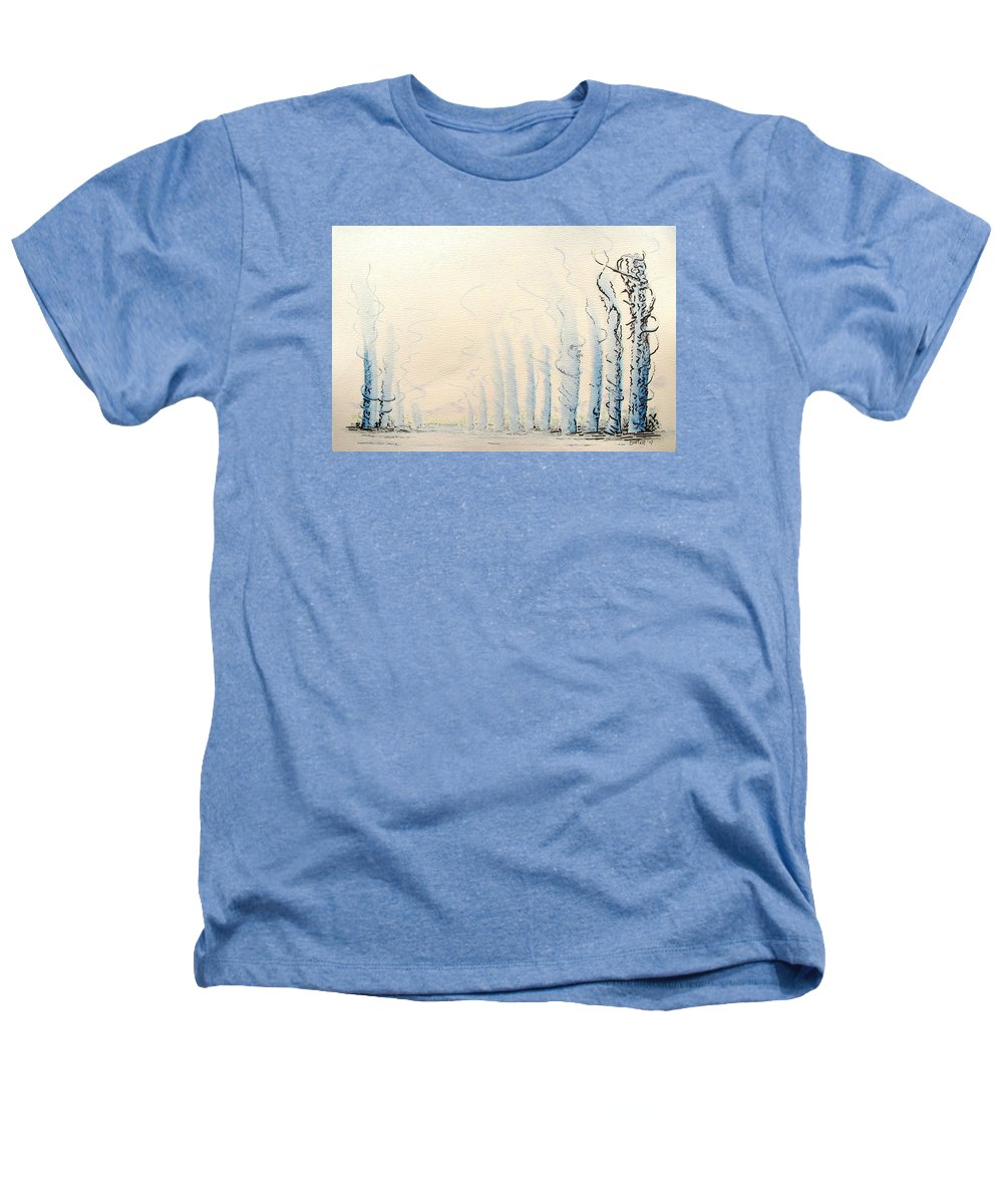 Watercolor Heathers T-Shirt featuring the painting Signals by Dave Martsolf