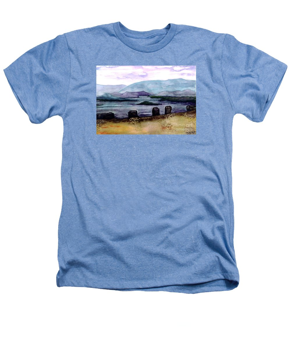 Original Painting Heathers T-Shirt featuring the painting Silent Sentinels by Patricia Griffin Brett