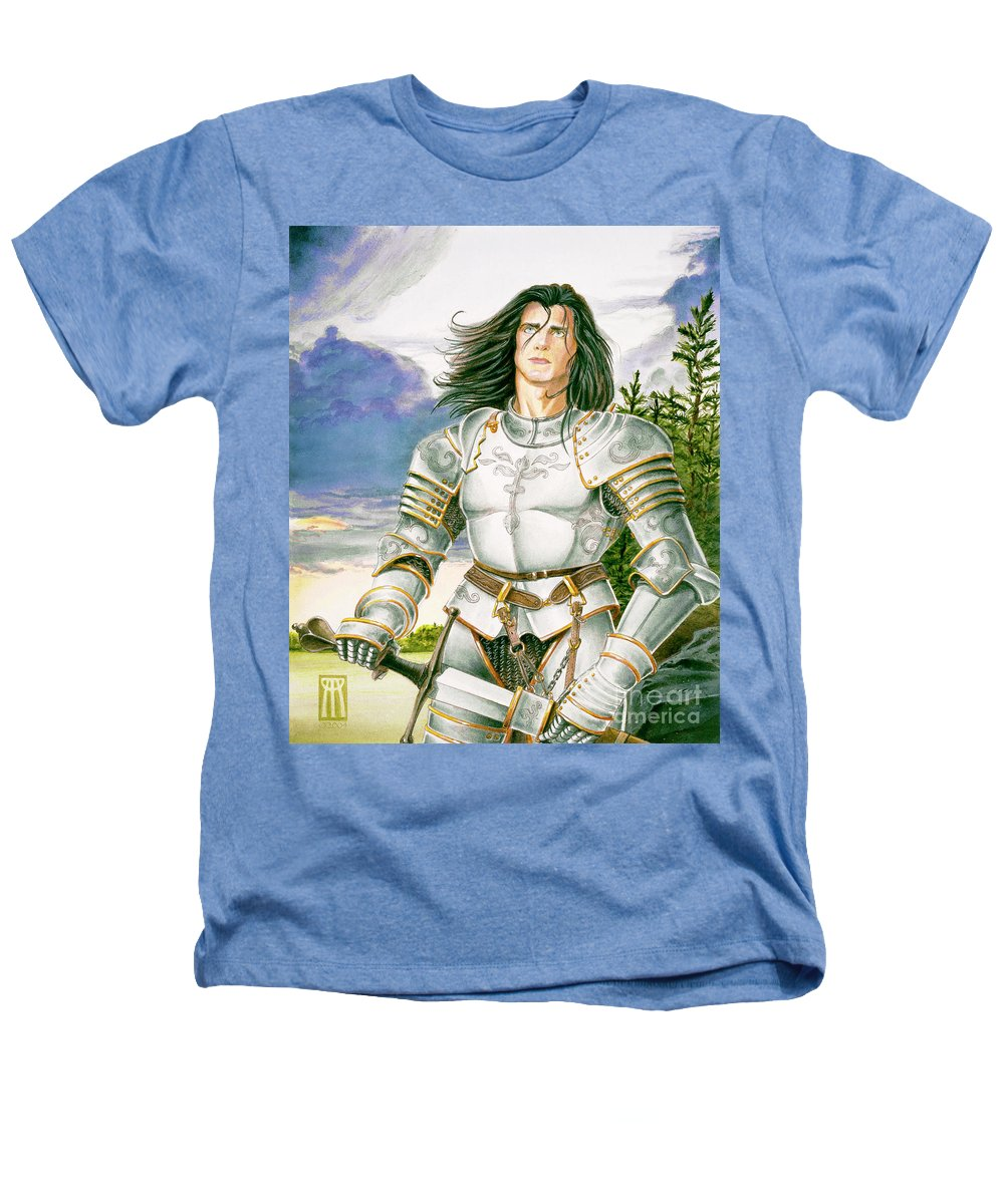 Swords Heathers T-Shirt featuring the painting Sir Lancelot by Melissa A Benson