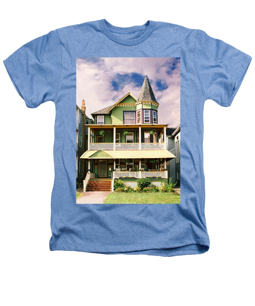Archtiecture Heathers T-Shirt featuring the photograph Sisters Panel 1 Of Triptych by Steve Karol