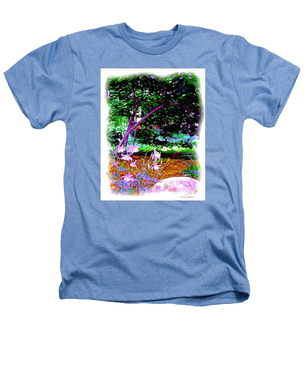 Fine Art Heathers T-Shirt featuring the painting Sitting In The Shade by Patricia Griffin Brett