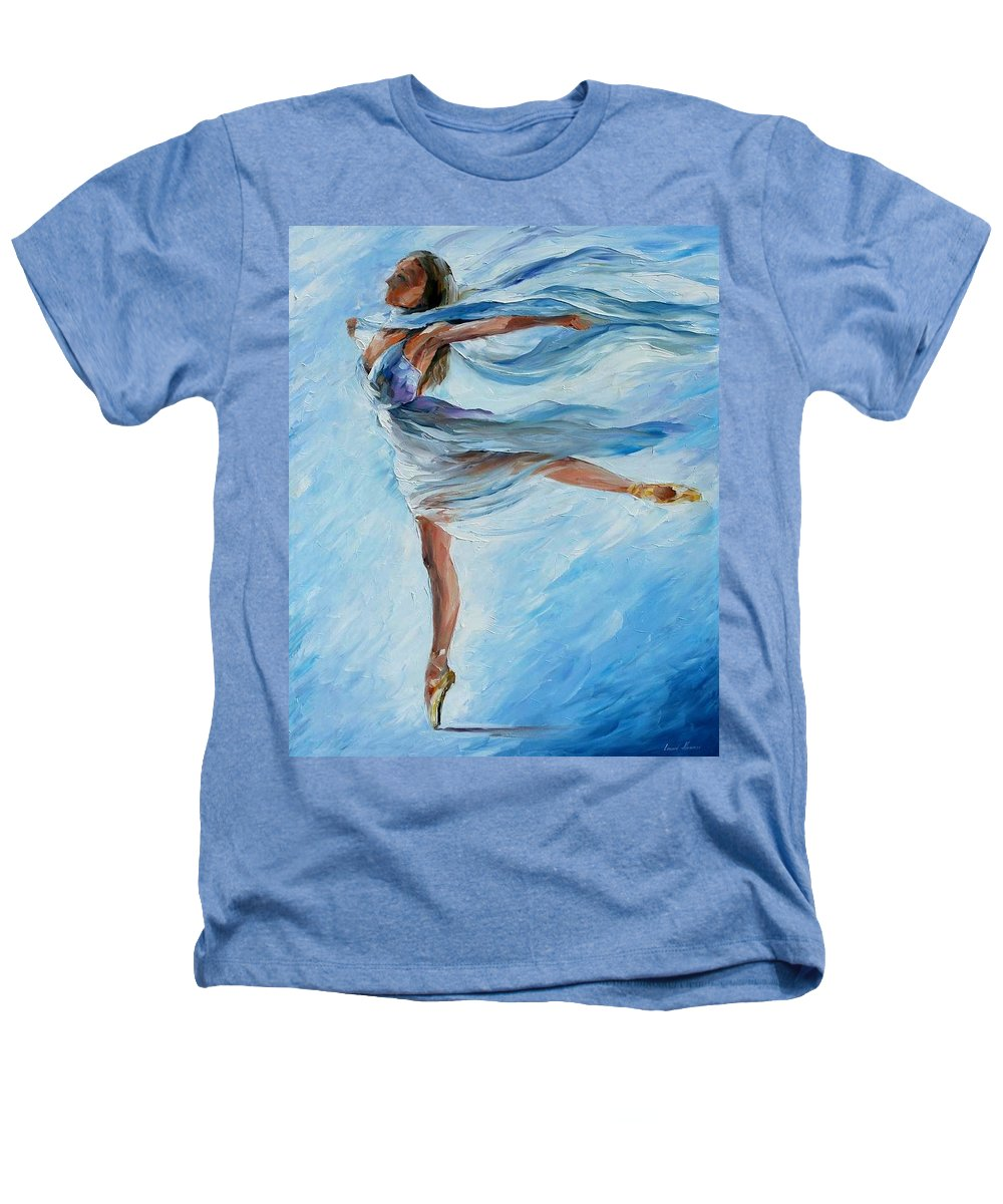 Ballet Heathers T-Shirt featuring the painting Sky Dance by Leonid Afremov
