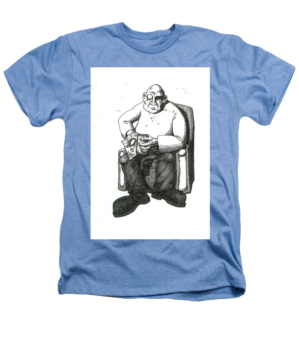 Buddha Heathers T-Shirt featuring the drawing Snacks by Tobey Anderson