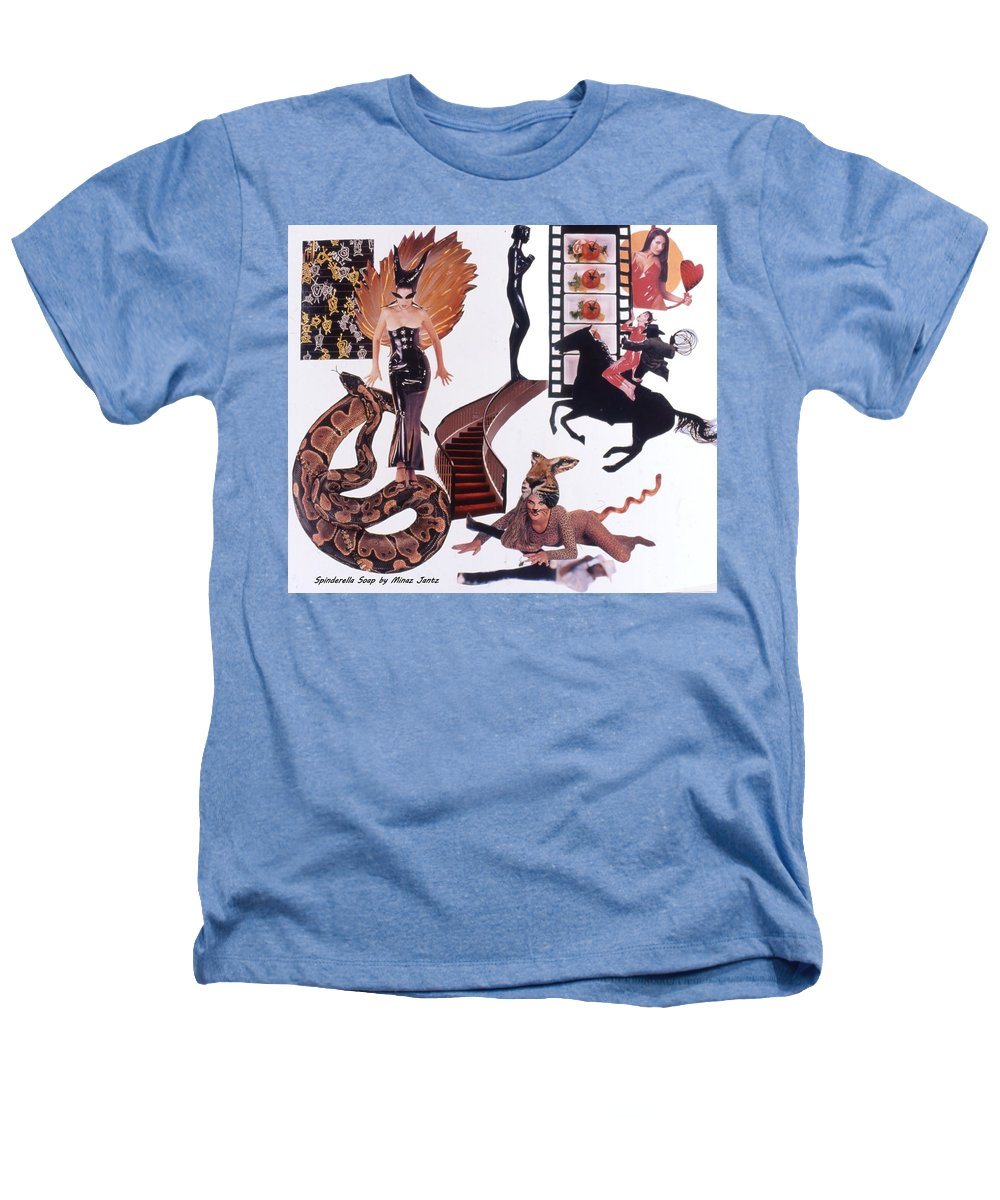 Boa Heathers T-Shirt featuring the drawing Soap Scene #22 Lust In The Wind by Minaz Jantz