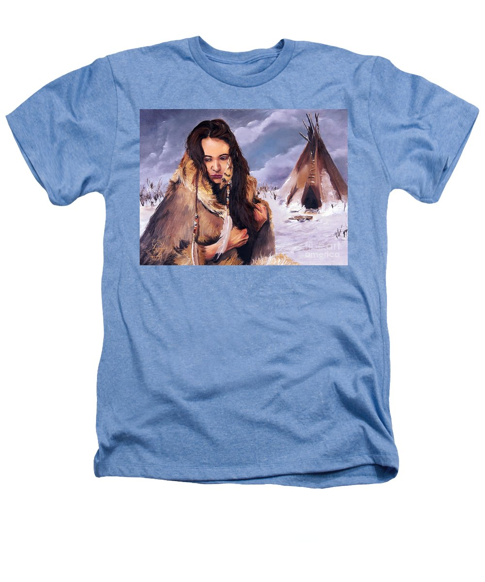 Southwest Art Heathers T-Shirt featuring the painting Solitude by J W Baker