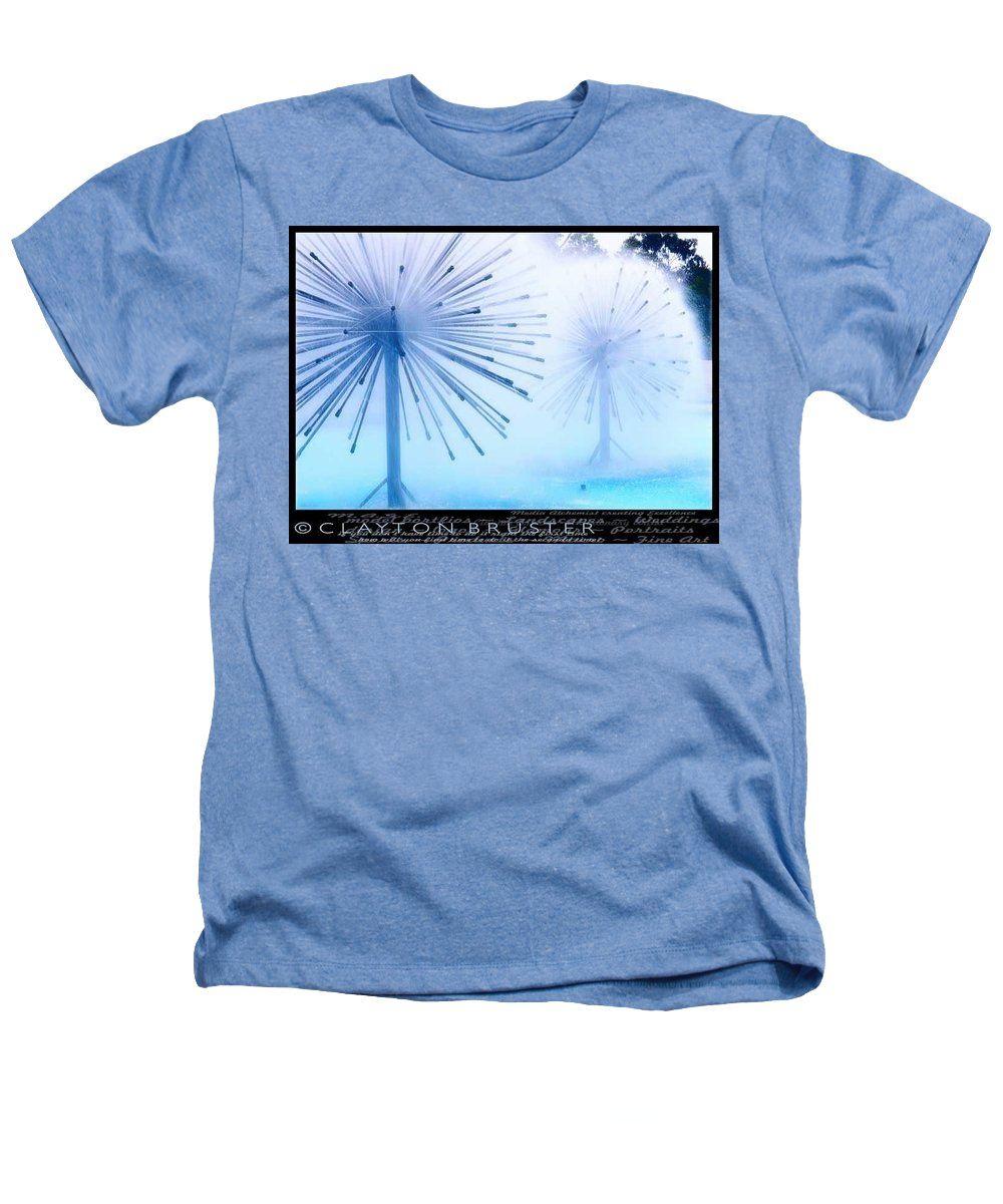 Clay Heathers T-Shirt featuring the photograph Southern California Fountains by Clayton Bruster