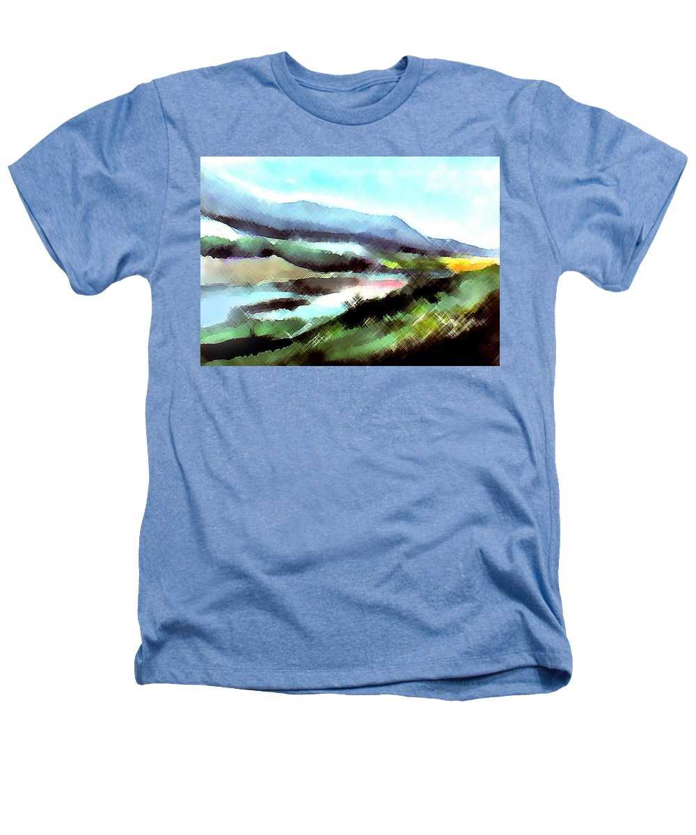 Digital Art Heathers T-Shirt featuring the painting Sparkling by Anil Nene