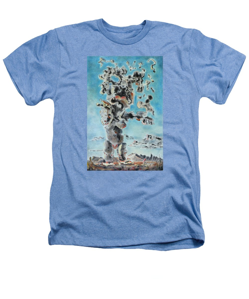 Surreal Heathers T-Shirt featuring the painting Spectre by Dave Martsolf