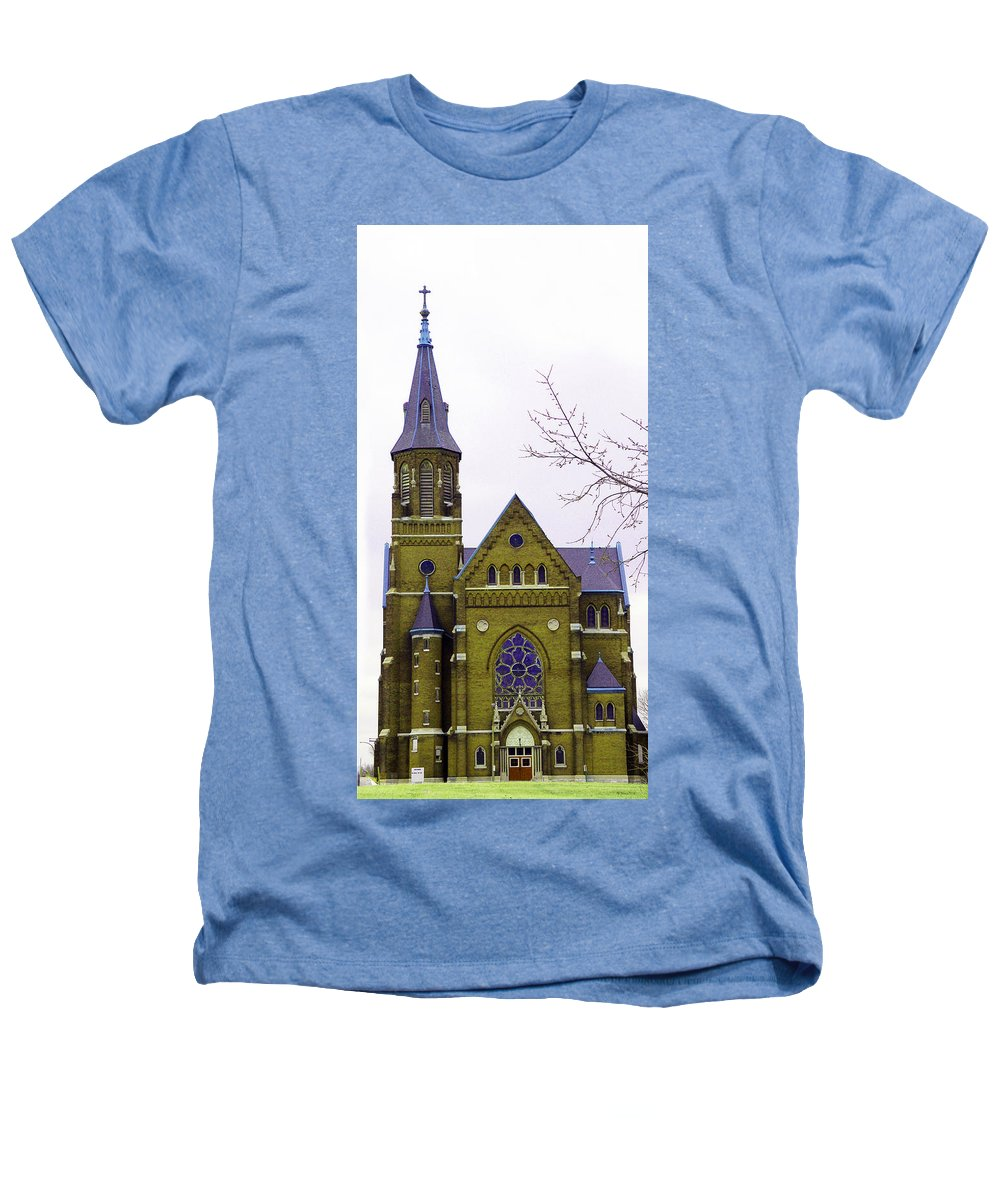 Spire Heathers T-Shirt featuring the photograph Spire by Albert Stewart