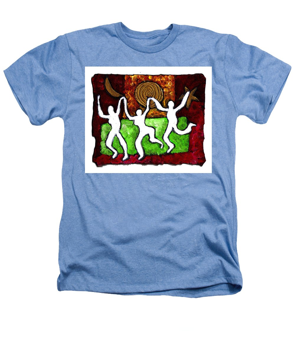 Dance Heathers T-Shirt featuring the painting Spirits Of The Dance by Wayne Potrafka