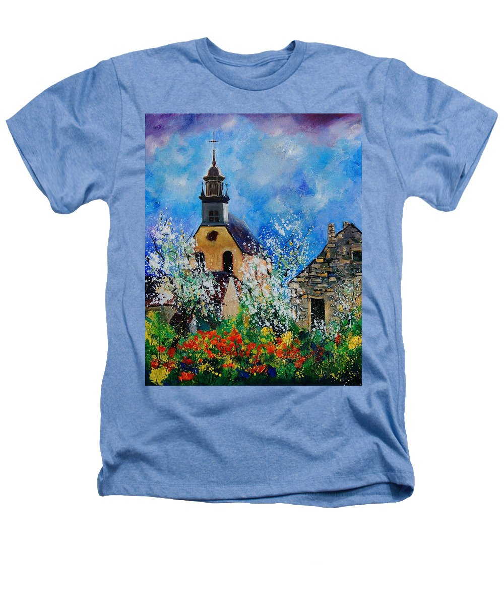Spring Heathers T-Shirt featuring the painting Spring In Foy Notre Dame Dinant by Pol Ledent