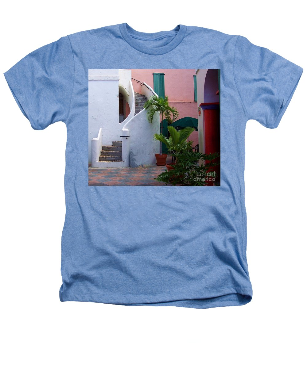 Architecture Heathers T-Shirt featuring the photograph St. Thomas Courtyard by Debbi Granruth