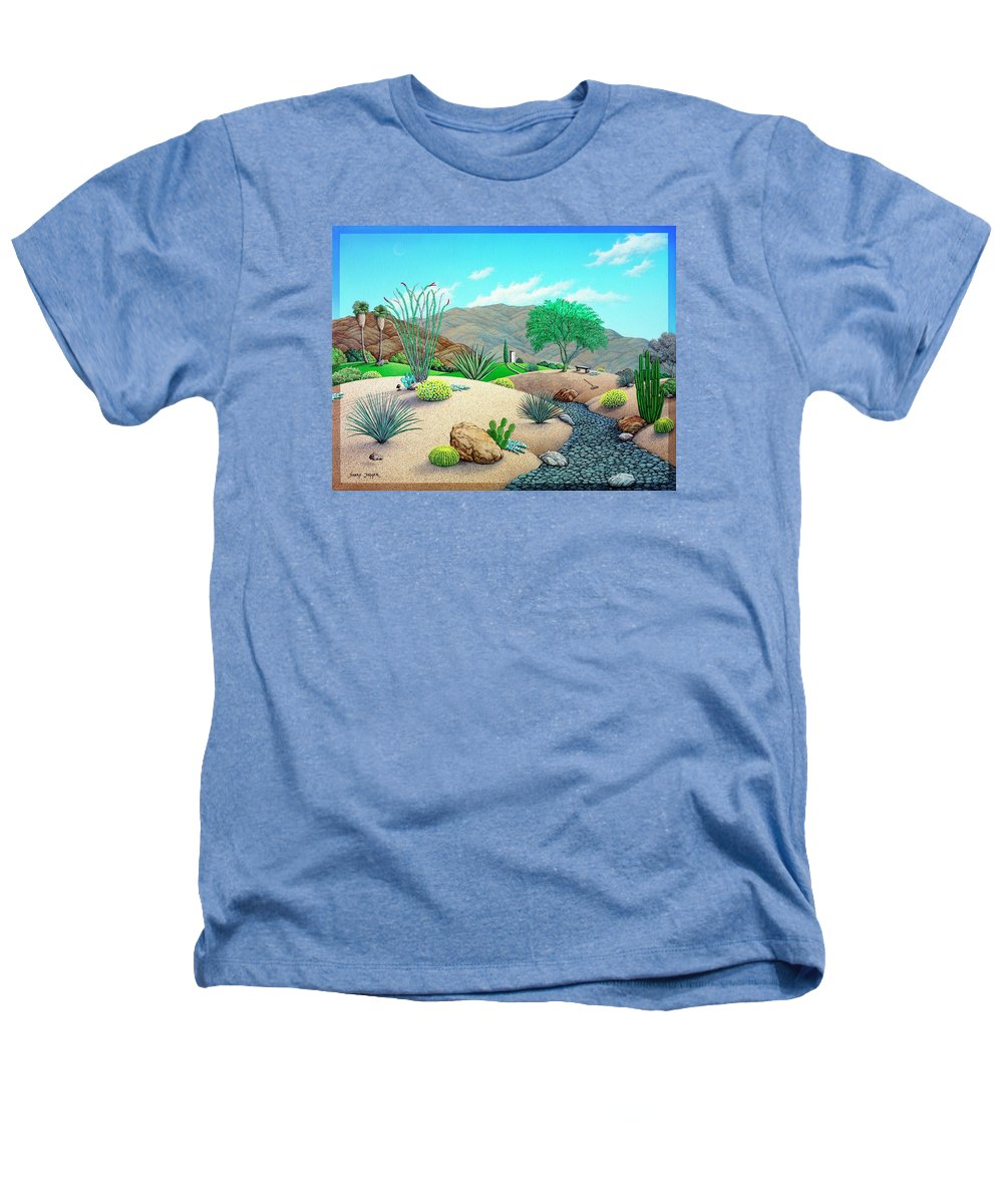 Desert Heathers T-Shirt featuring the painting Steves Yard by Snake Jagger