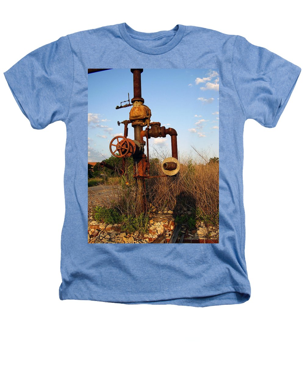 Pipes Heathers T-Shirt featuring the photograph Still Here by Flavia Westerwelle