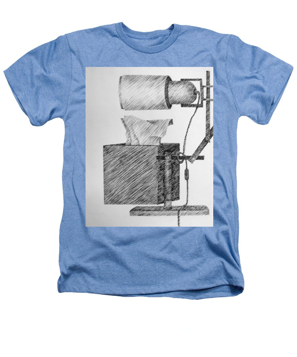 Still Life Heathers T-Shirt featuring the drawing Still Life With Lamp And Tissues by Michelle Calkins