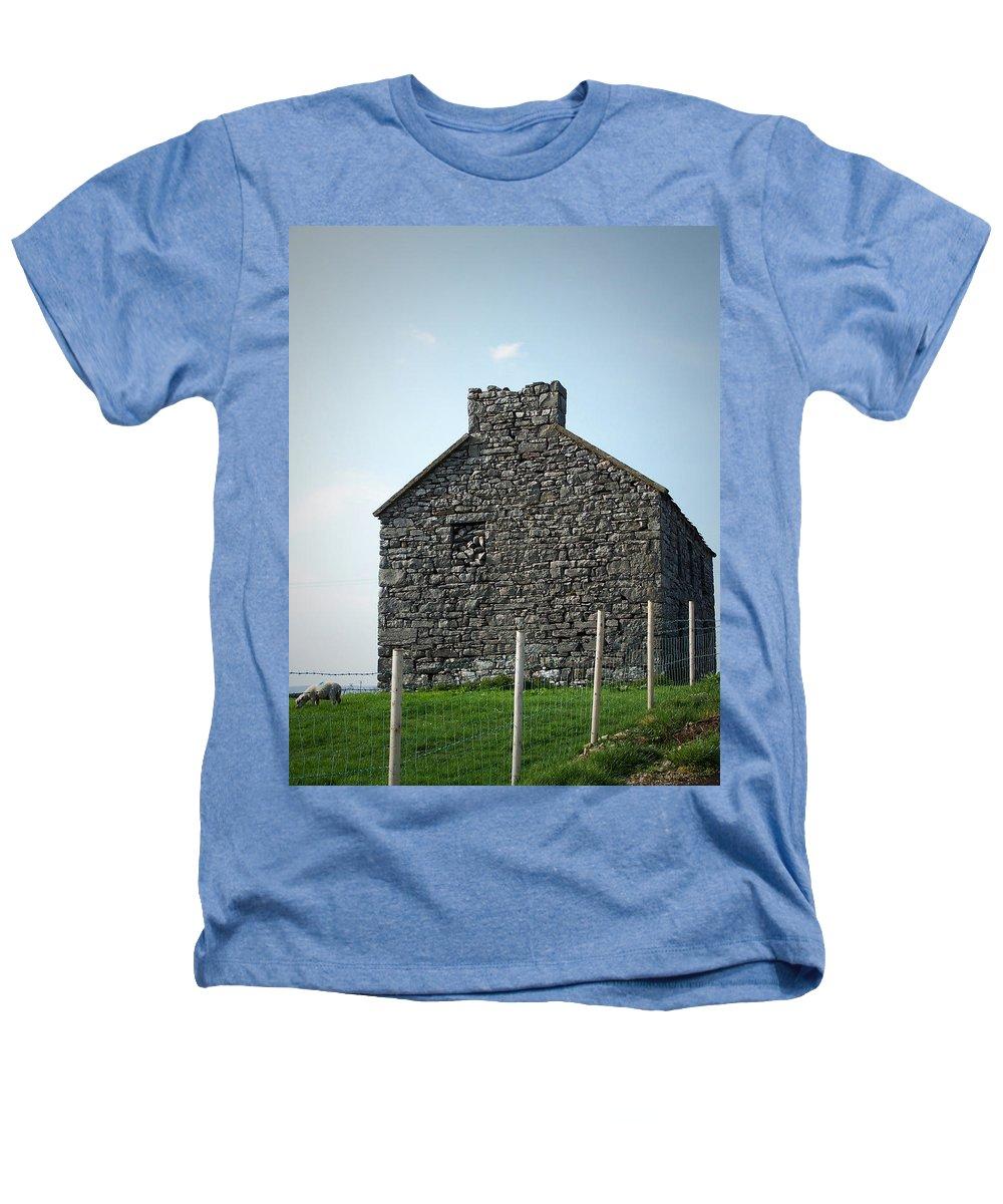 Irish Heathers T-Shirt featuring the photograph Stone Building Maam Ireland by Teresa Mucha