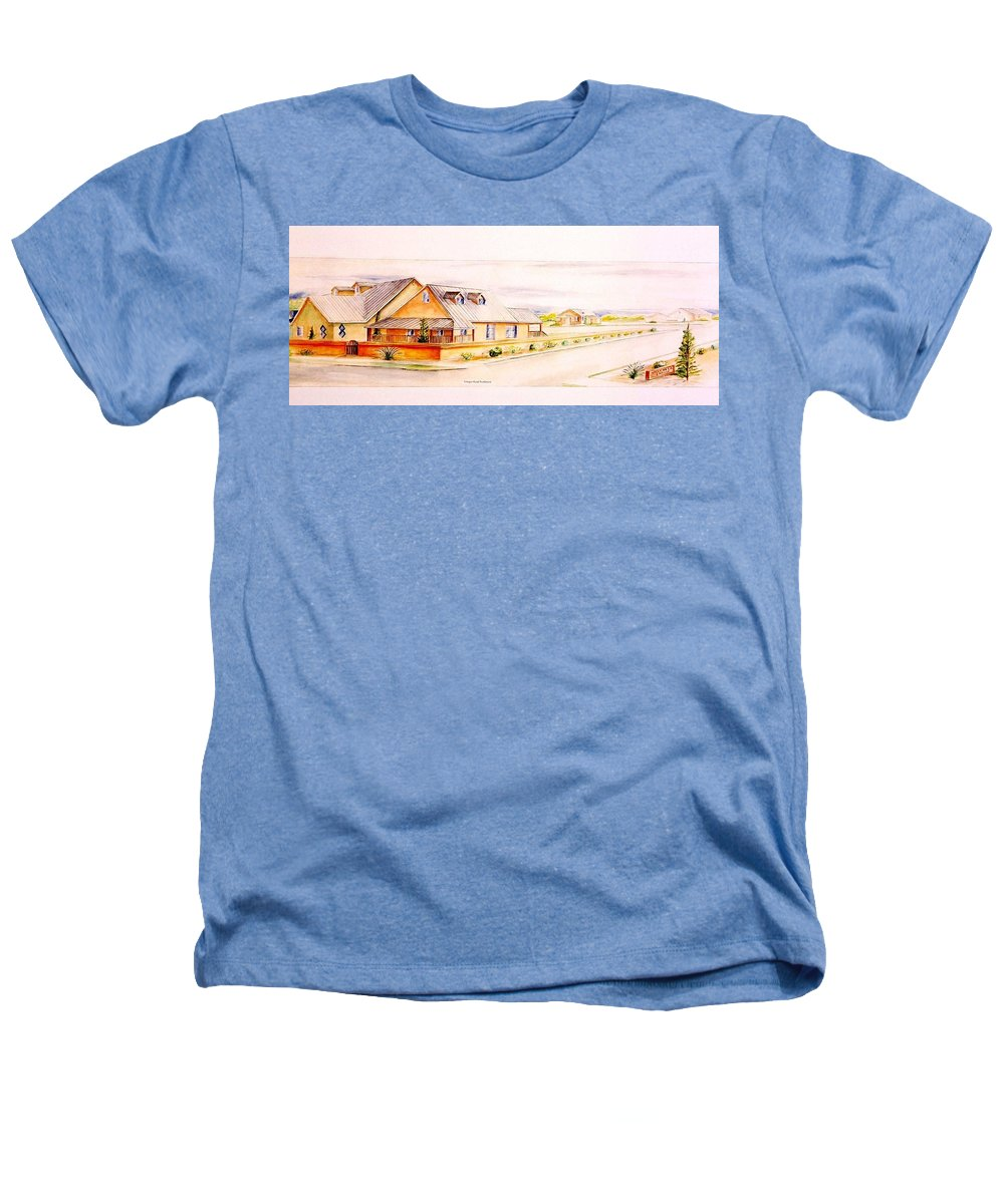 Architectural Renderings Heathers T-Shirt featuring the painting Subdivison Rendering by Eric Schiabor