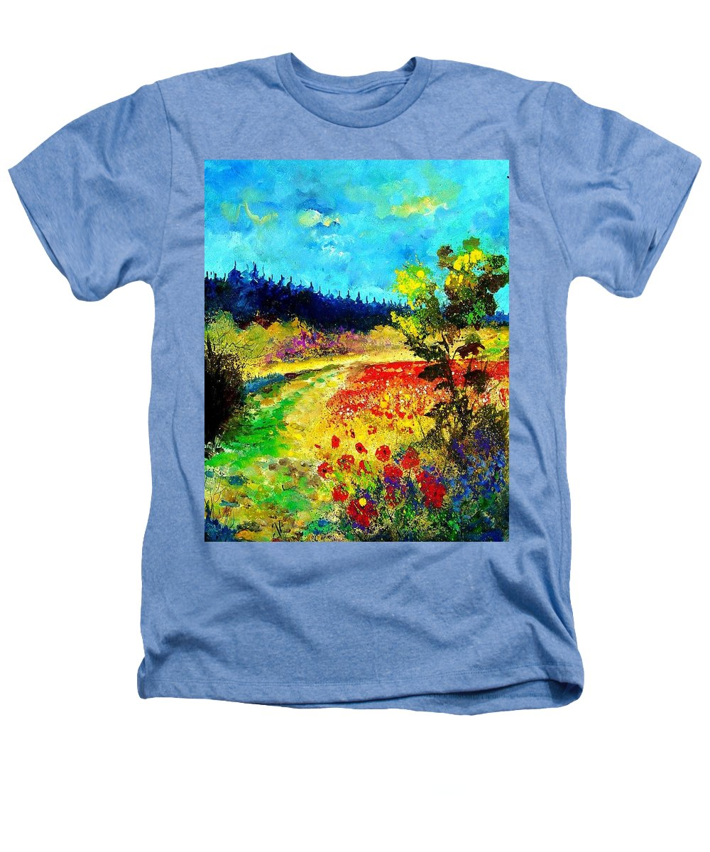 Flowers Heathers T-Shirt featuring the painting Summer by Pol Ledent