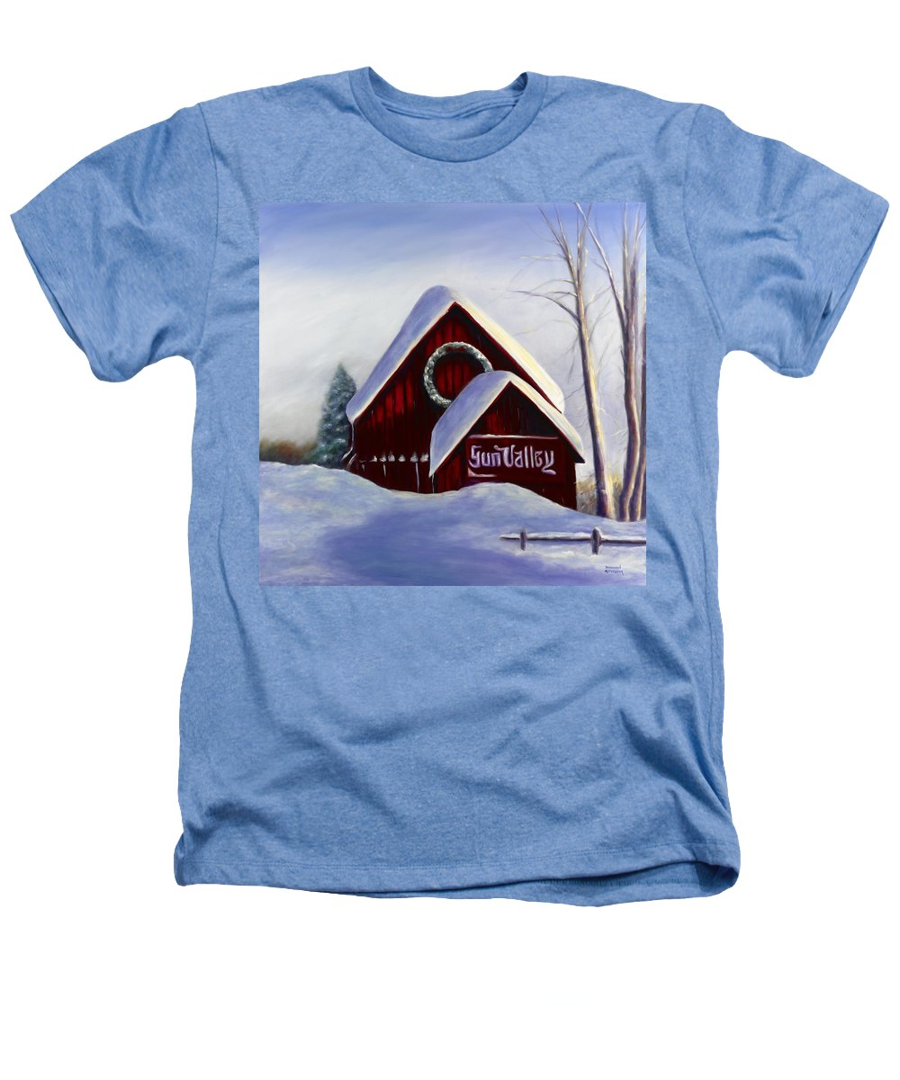 Landscape Heathers T-Shirt featuring the painting Sun Valley 3 by Shannon Grissom