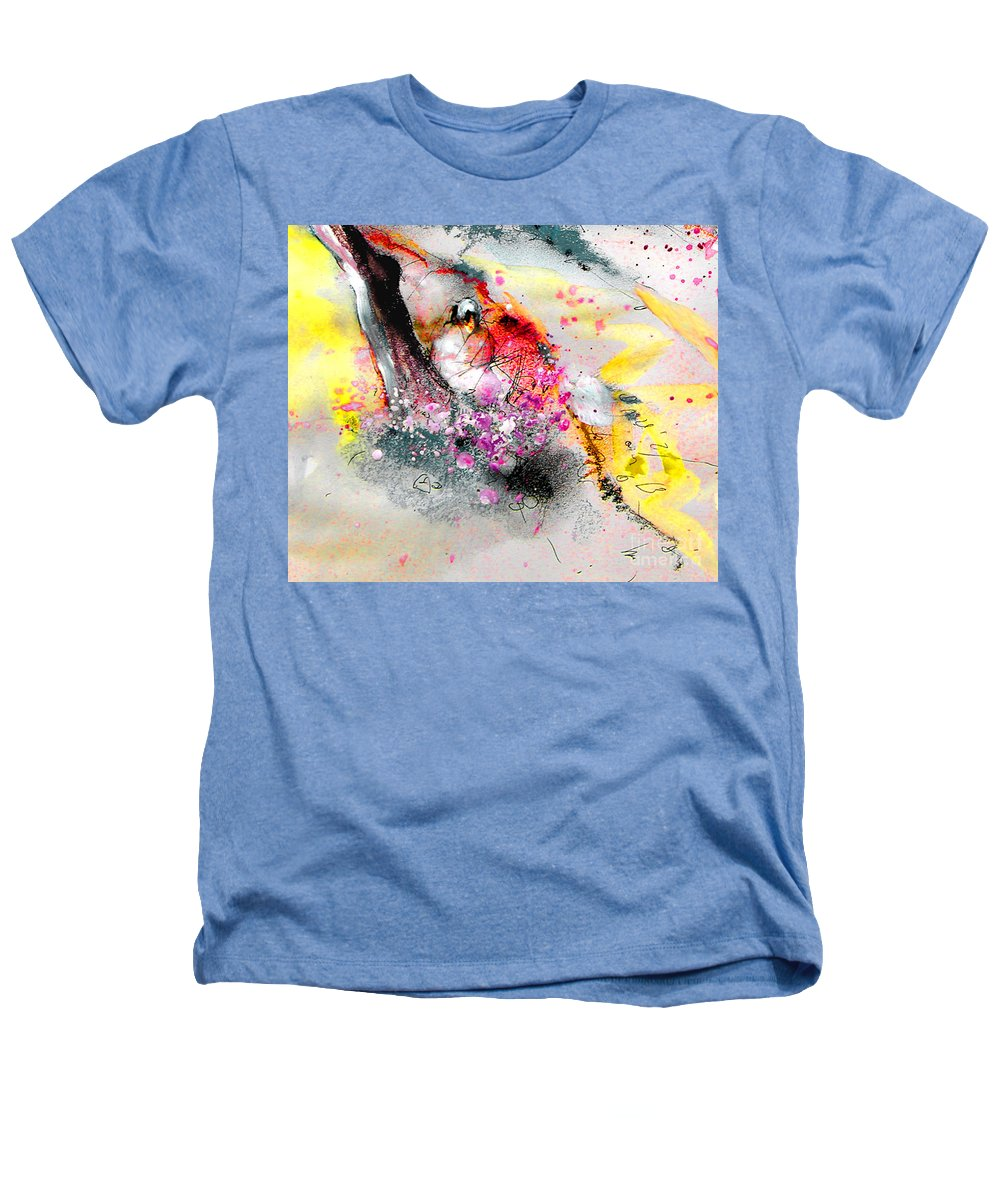 Pastel Painting Heathers T-Shirt featuring the painting Sunday By The Tree by Miki De Goodaboom