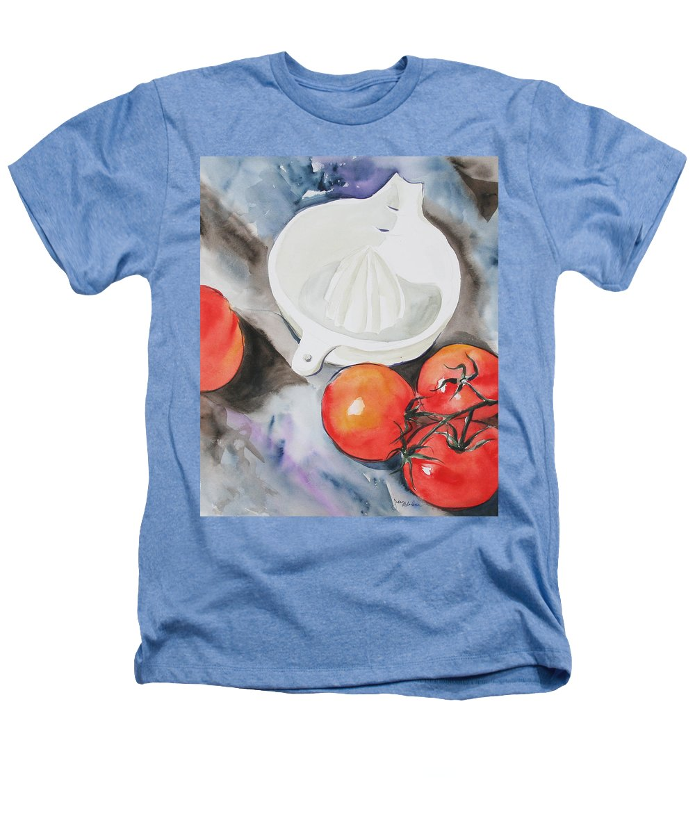 Tomatoes Heathers T-Shirt featuring the painting Sunshine On The Vine by Jean Blackmer