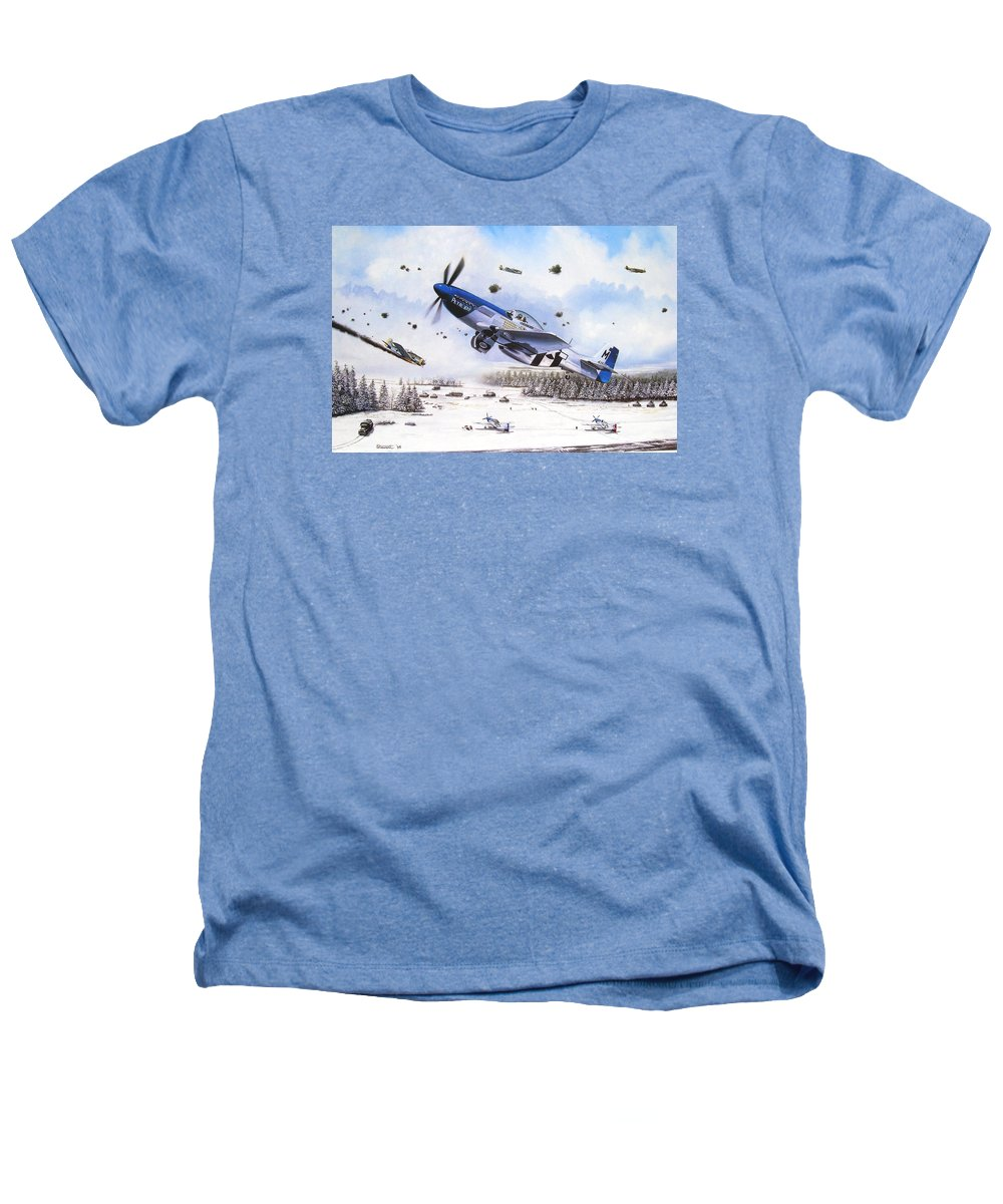 Aviation Heathers T-Shirt featuring the painting Surprise At Asch by Marc Stewart