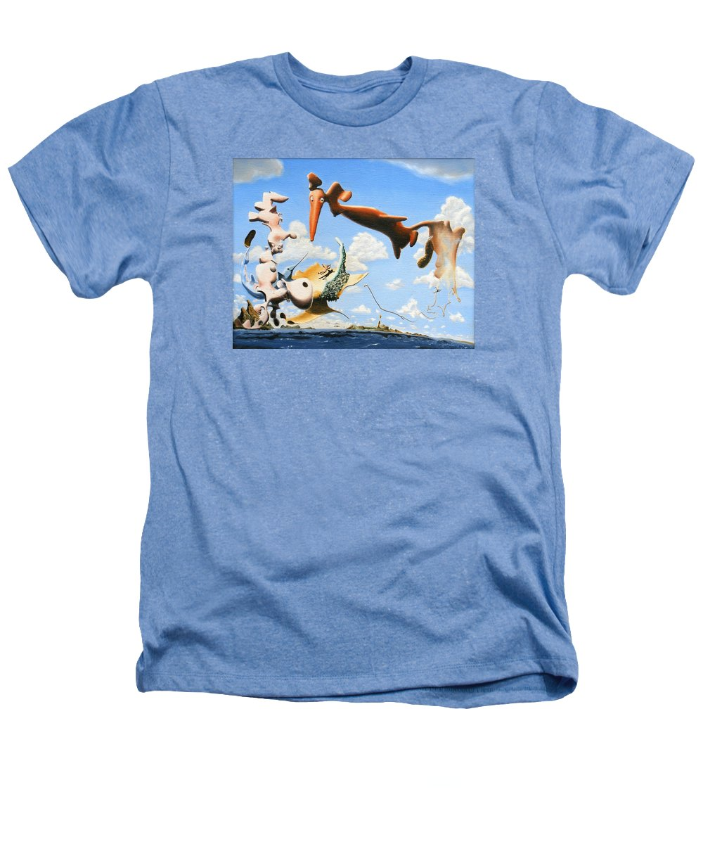 Surreal Heathers T-Shirt featuring the painting Surreal Friends by Dave Martsolf