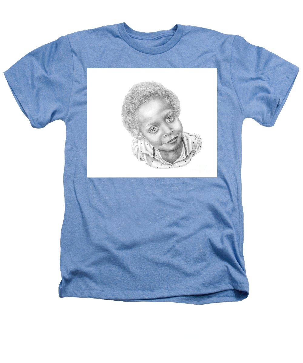 Portrait Heathers T-Shirt featuring the drawing Sweet Eyes by Murphy Elliott