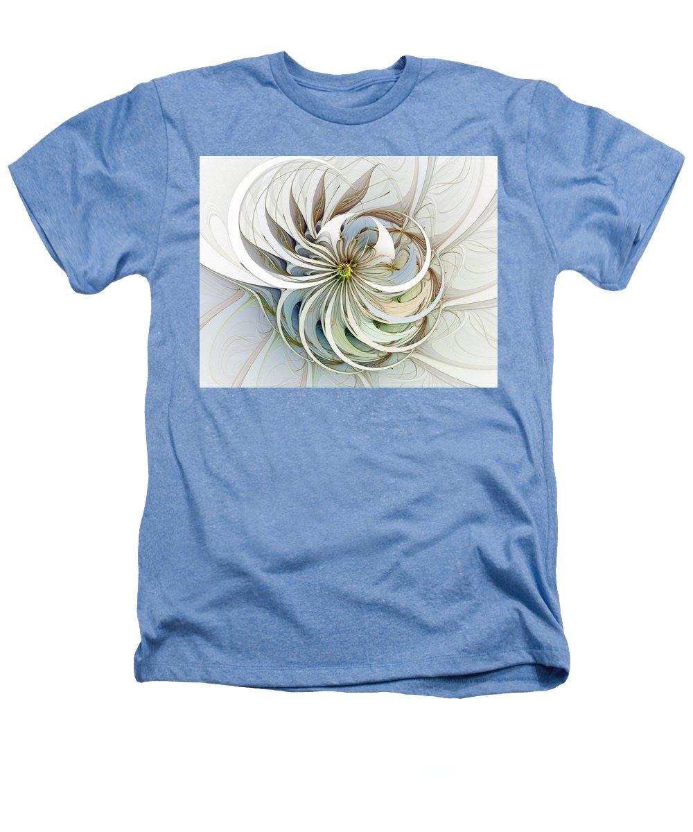 Digital Art Heathers T-Shirt featuring the digital art Swirling Petals by Amanda Moore