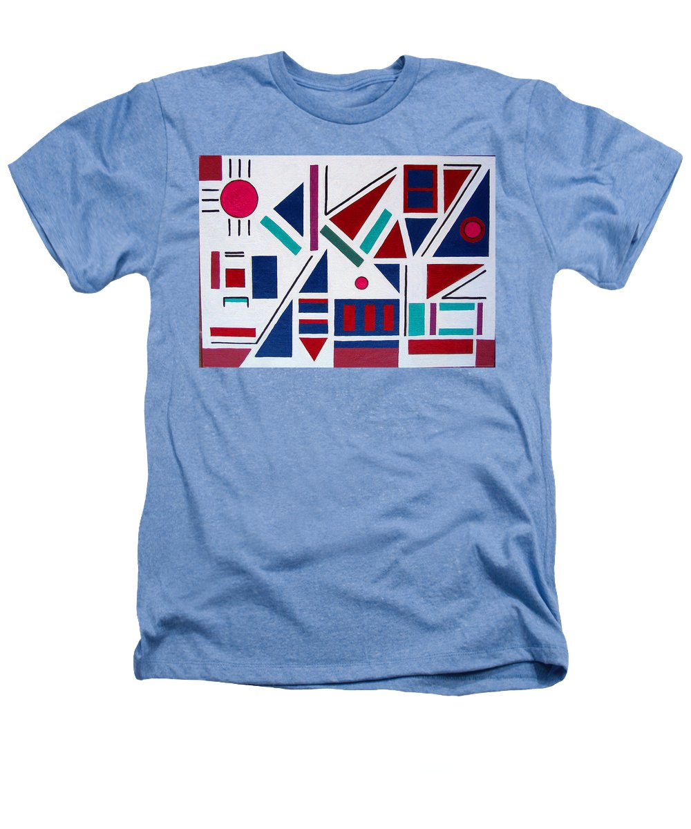 Abstract Heathers T-Shirt featuring the painting Symmetry In Blue Or Red by Marco Morales