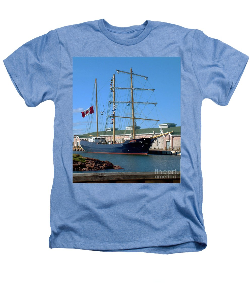 Dock Heathers T-Shirt featuring the photograph Tall Ship Waiting by RC DeWinter